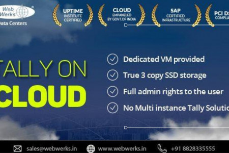 Web Werks introduces Tally on Cloud Hosting Services Infographic