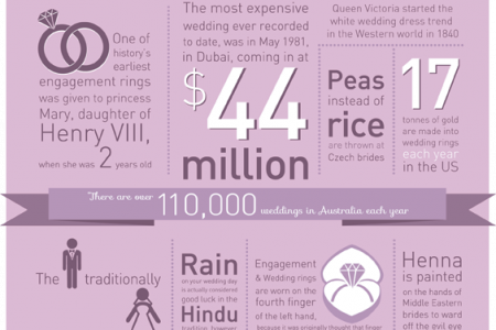 Wedding Fun Facts Infographic