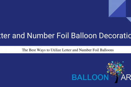 Wedding Party Decorations with Letter and Number Foil Balloons Infographic
