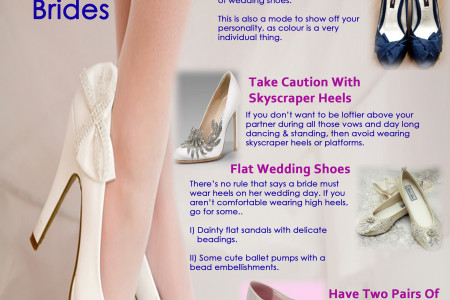 Wedding shoe tips for brides Infographic