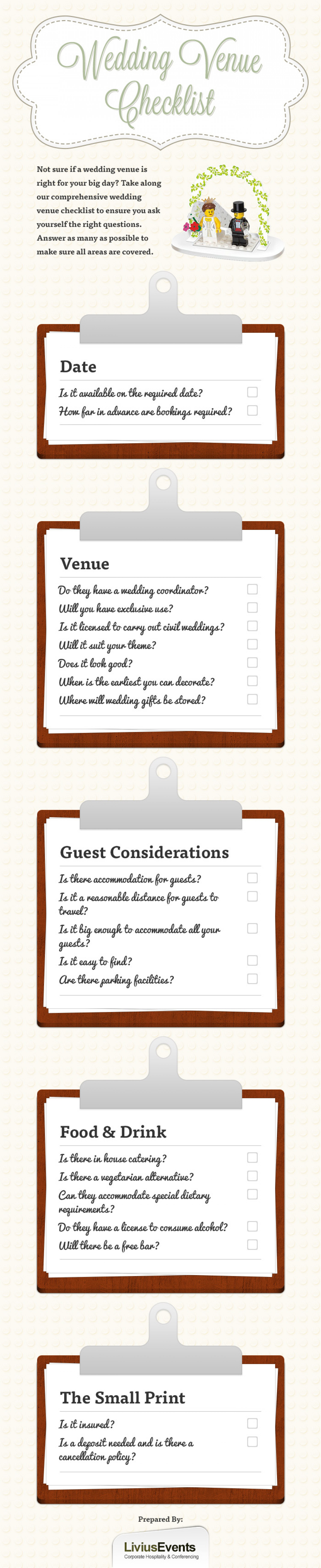Wedding Venue Checklist Infographic