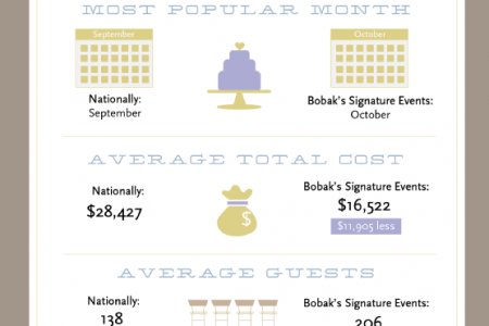 Weddings: By The Numbers Infographic