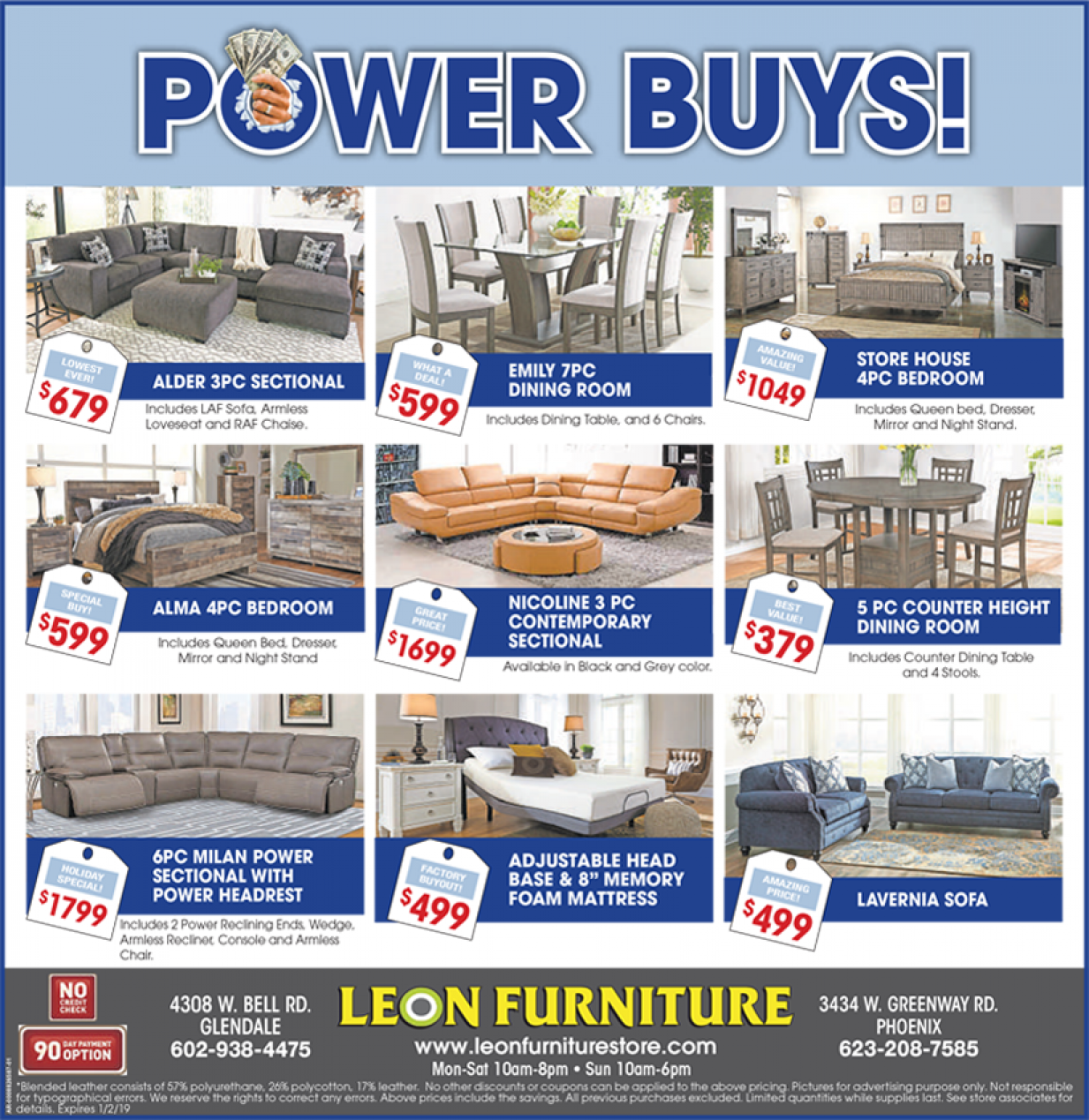 Weekly Furniture Sale at Leon Furniture Store Glendale  Infographic