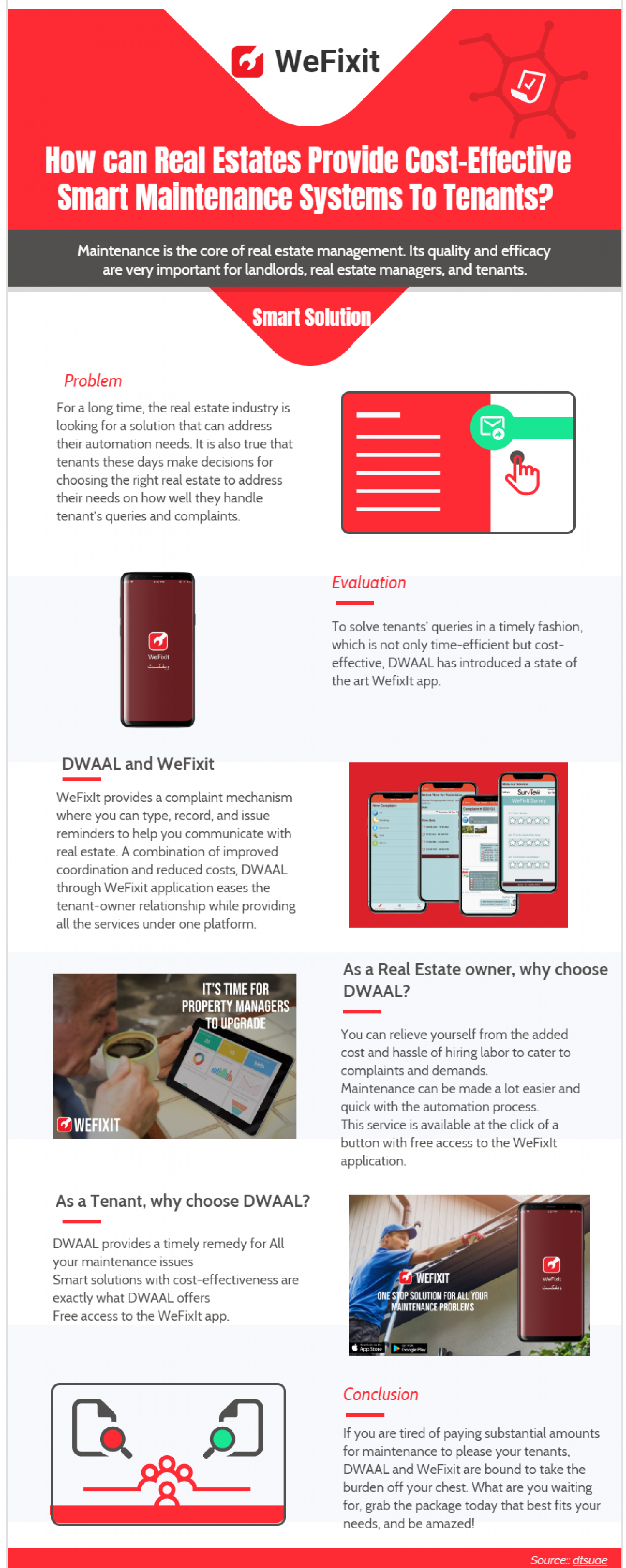 WeFixit- Smart solution fort all your maintenance problrms Infographic
