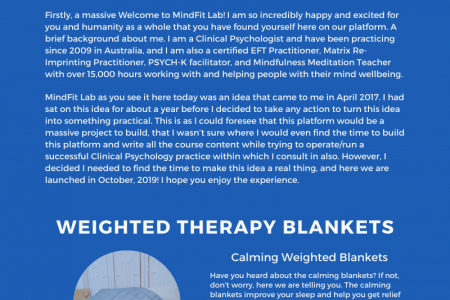 Weighted Therapy Blankets – Mindfit Lab Infographic