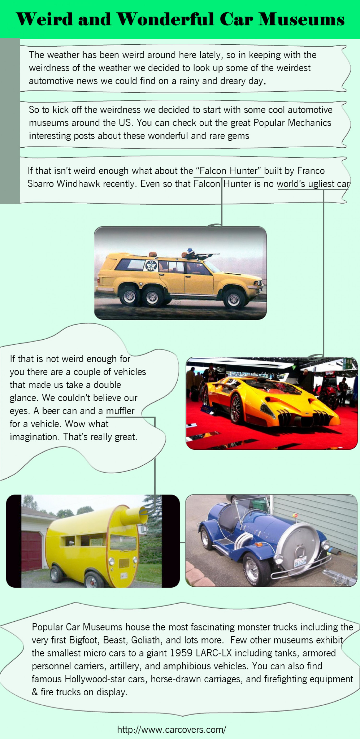 Weird and Wonderful Car Museums  Infographic