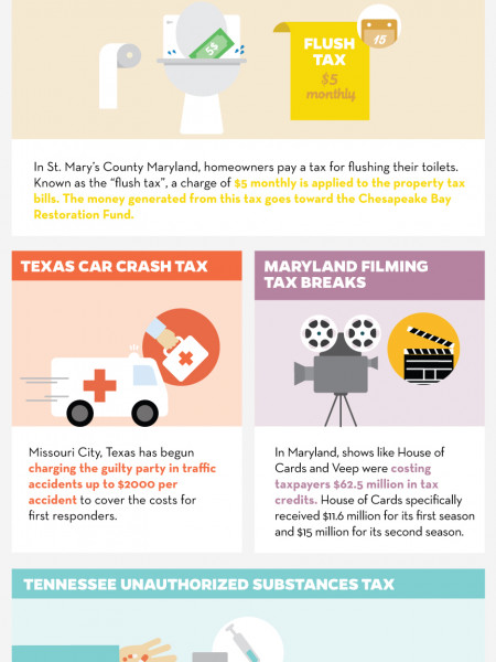 Weird Taxes 2015 Infographic