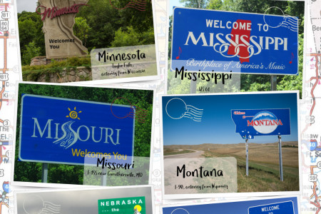 Welcome Signs from the 50 States Infographic