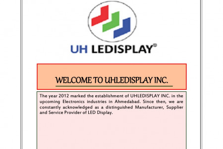 WELCOME TO UHLEDISPLAY INC. Infographic