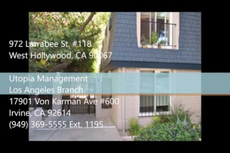 West Hollywood Property Management - 972 Larrabee St. #118, West Hollywood, CA 90067 Infographic