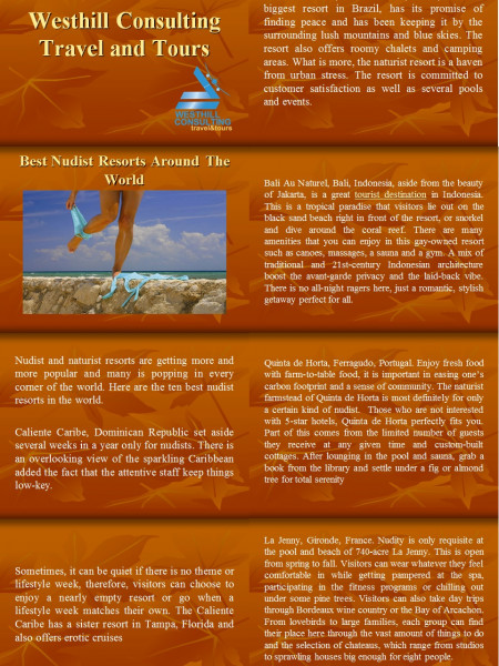 Westhill Consulting Travel Tips - Best Nudist Resorts Around The World Infographic