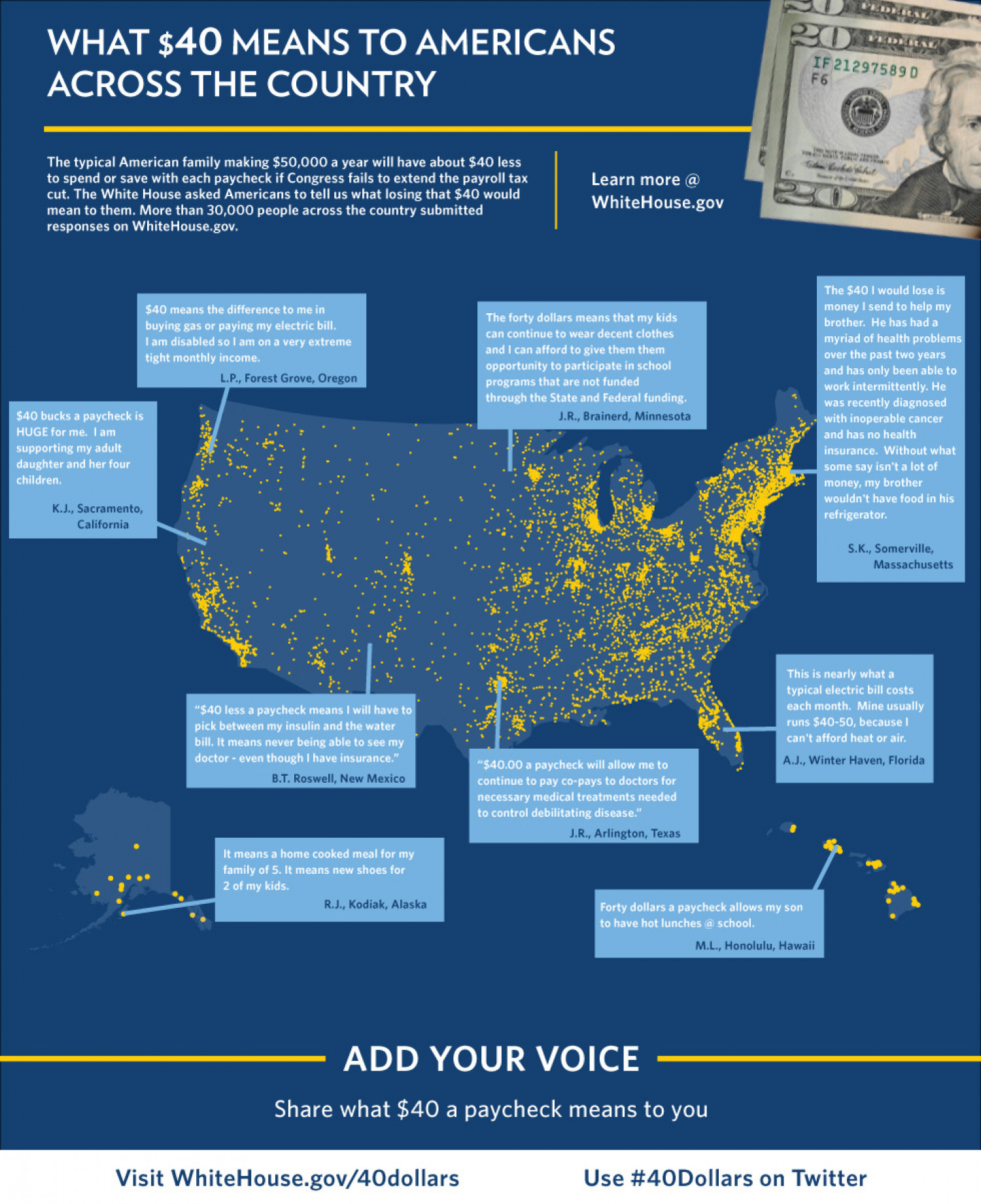 What $40 Means to Americans Across the Country Infographic