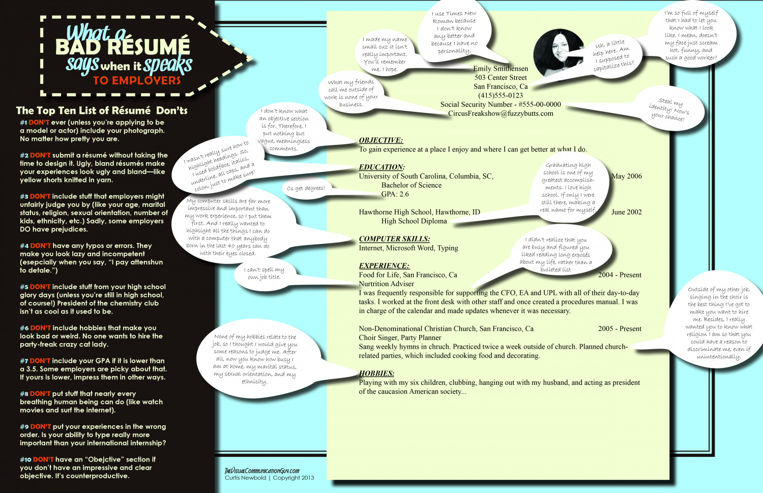 Examples of the best resumes