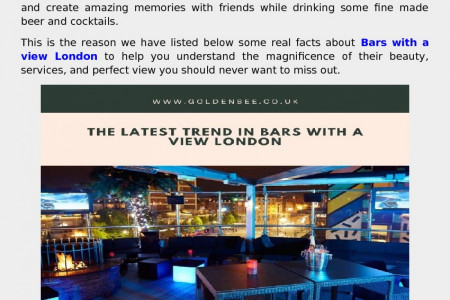 what are bars with a view London Infographic