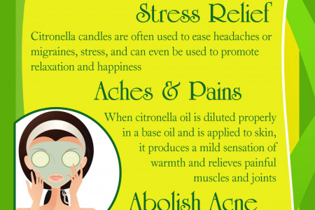 What are Citronella Candles? Infographic
