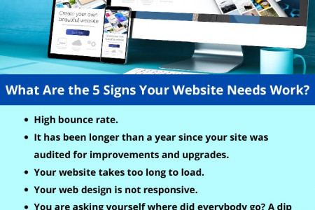 What Are the 5 Signs Your Website Needs Work? Infographic