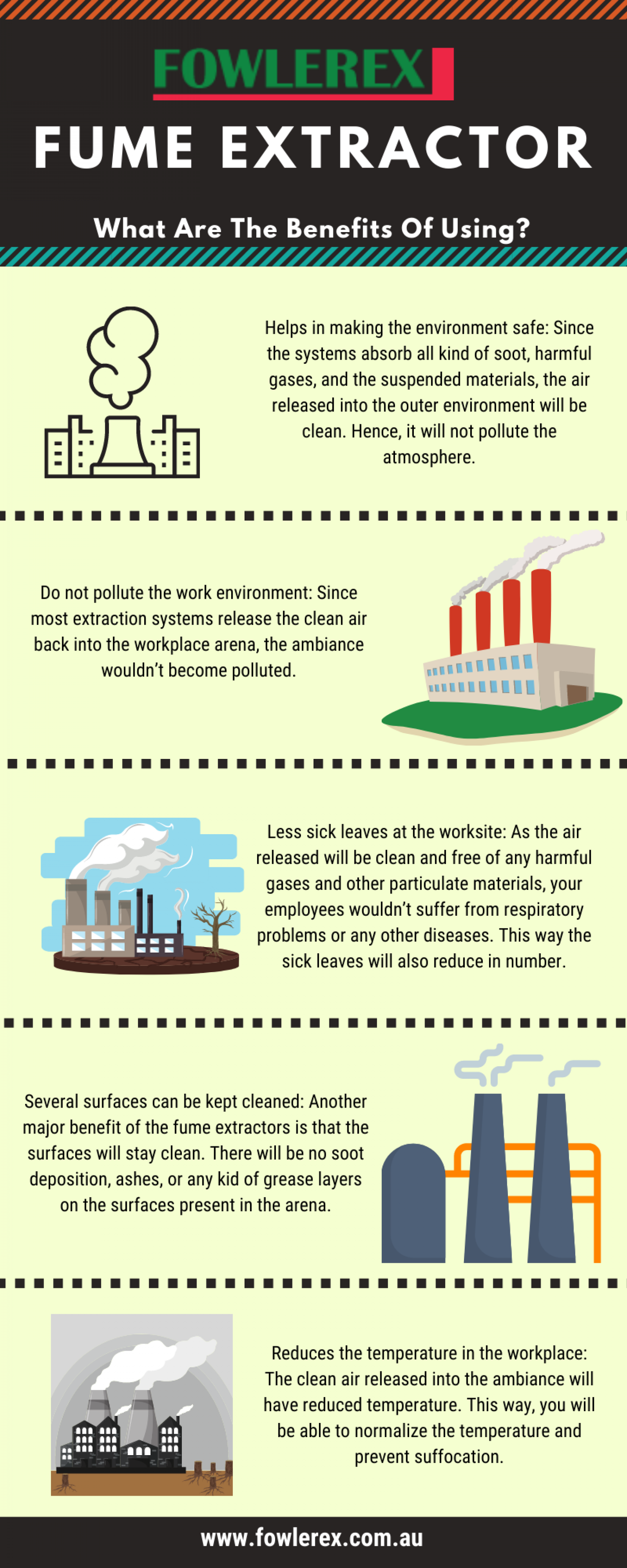 What Are The Benefits Of Using A Fume Extractor? By Fowlerex  Infographic