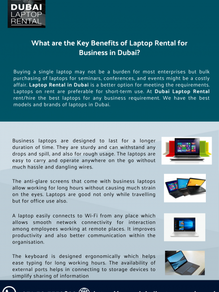 What are the Key Benefits of Laptop Rental for Business in Dubai? Infographic