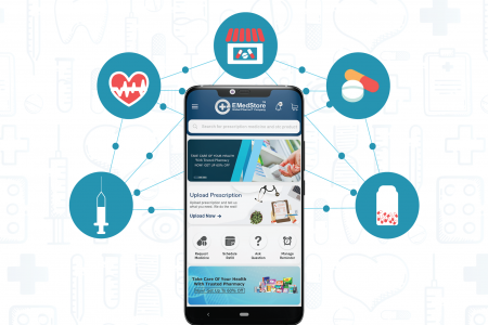 What are the main advantages of Online Medicine apps? Infographic