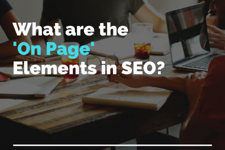 What are the 'On Page' Elements in SEO? Infographic
