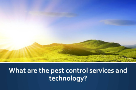 What are the pest control services and technology? Infographic