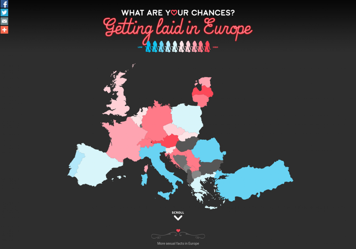 What Are Your Chances? Getting Laid in Europe Infographic