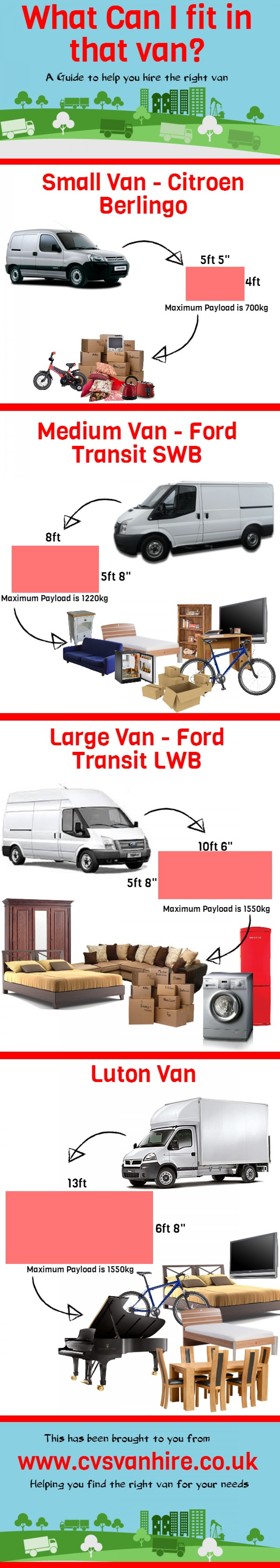 What Can I Fit In That Van? Infographic
