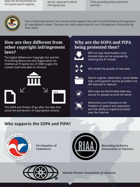 What Do You Think About SOPA and PIPA? Infographic