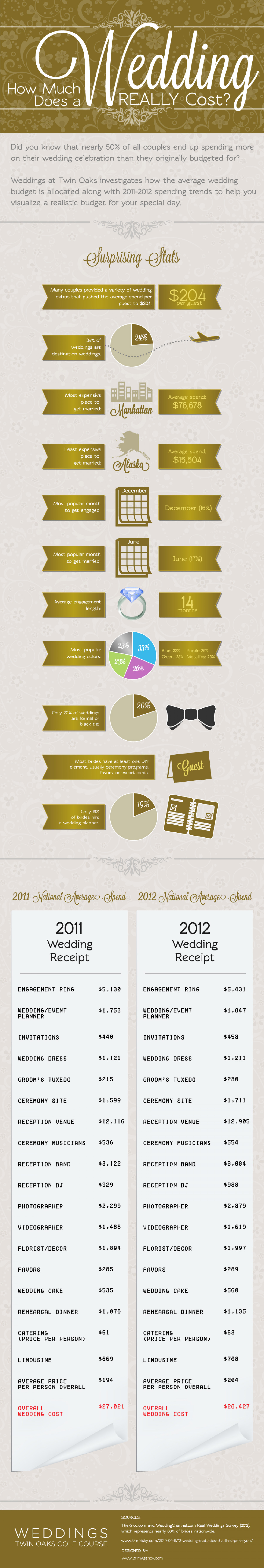 What Does a Wedding Cost?  Infographic