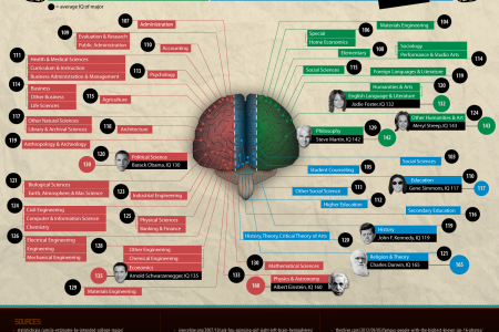 What Does Your College Major Say About Your IQ? Infographic
