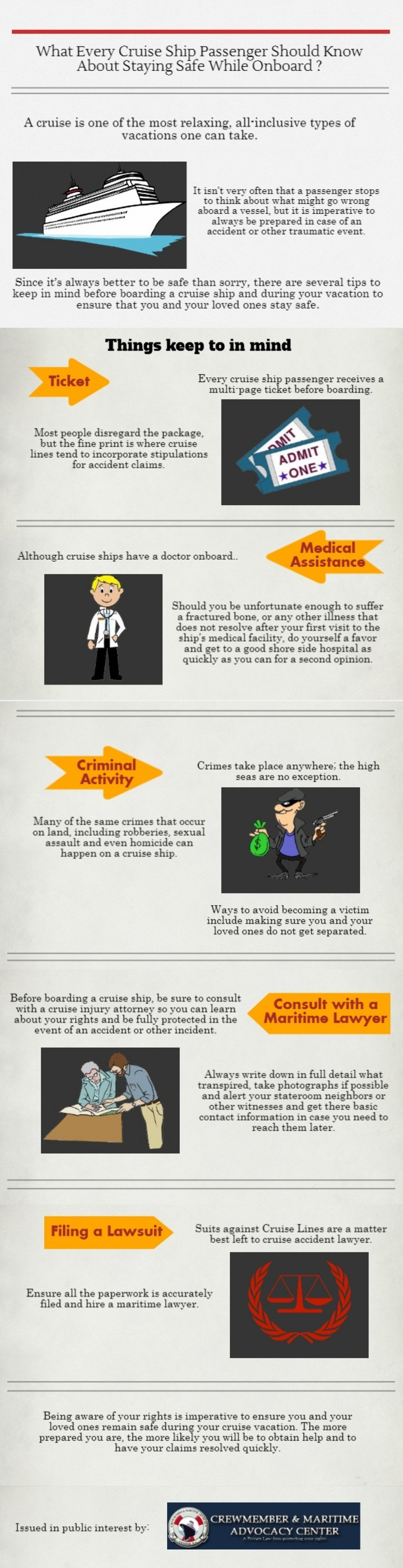 What Every Cruise Ship Passenger Should Know About Staying Safe While Onboard Infographic