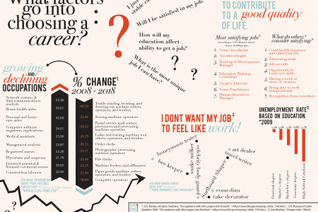 What factors go into choosing a career? Infographic