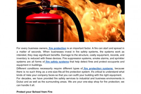 What Fire Protection System Is Right for My Company? Infographic