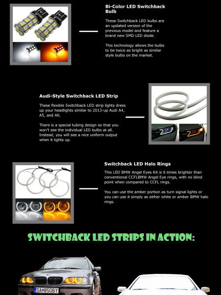 What is a Switchback LED? Infographic
