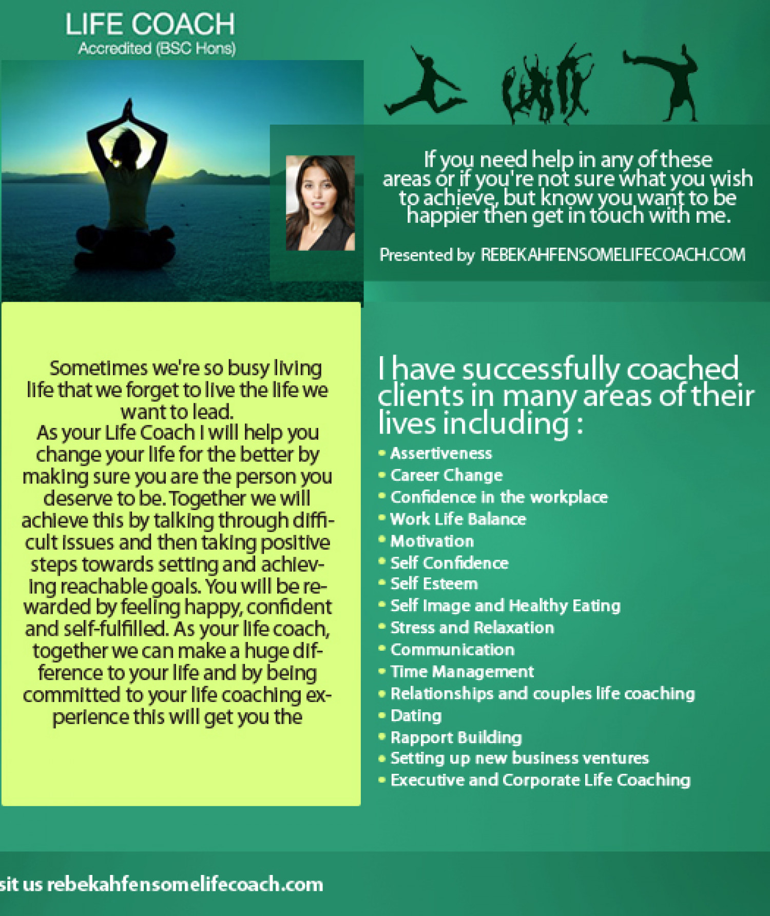 What is life coaching? Infographic