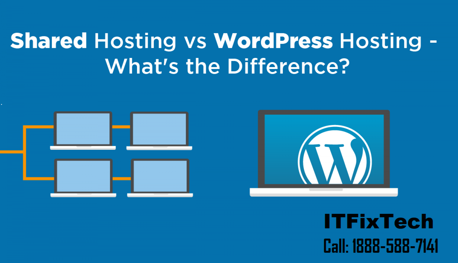 What Is the Difference Between Managed and Shared WordPress Hosting? Infographic