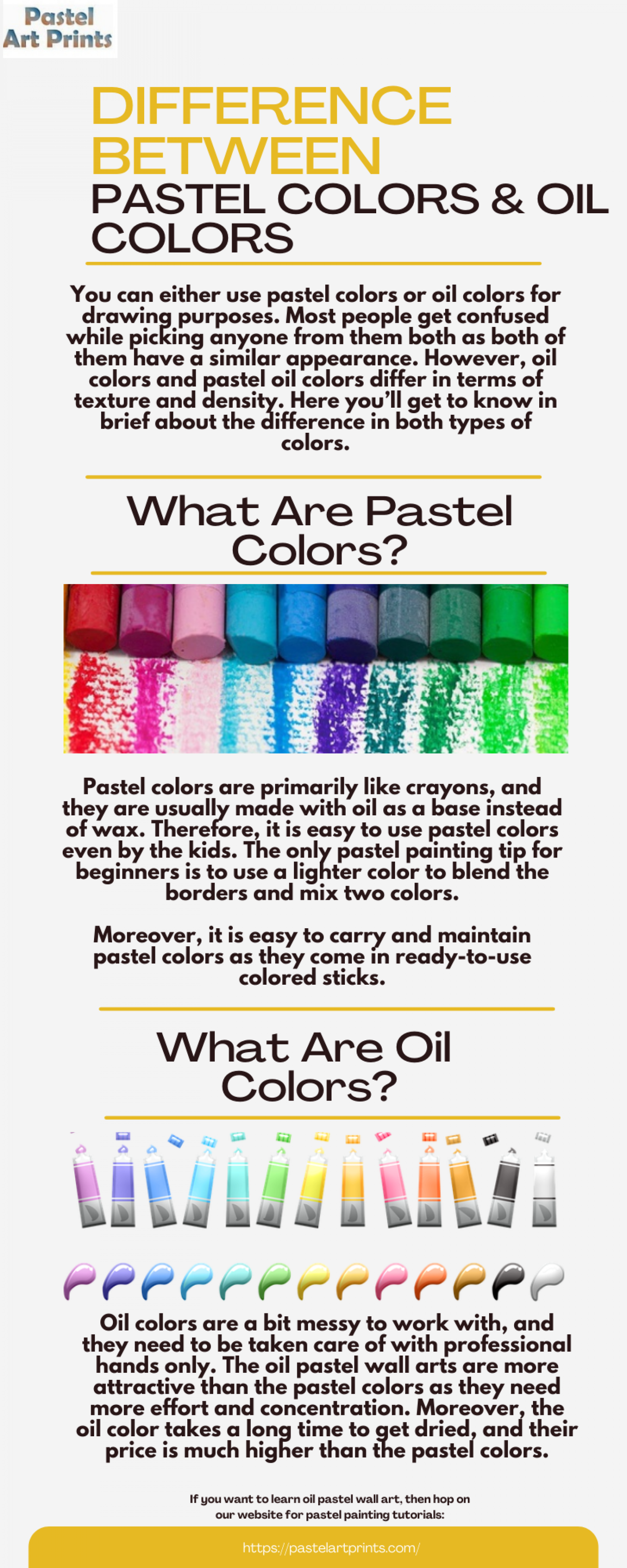 What Is The Difference Between Pastel and Oil Colors Infographic