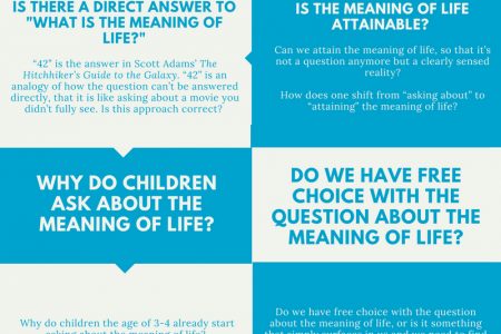 What Is the Meaning of Life? - Questions about the Meaning of Life Infographic