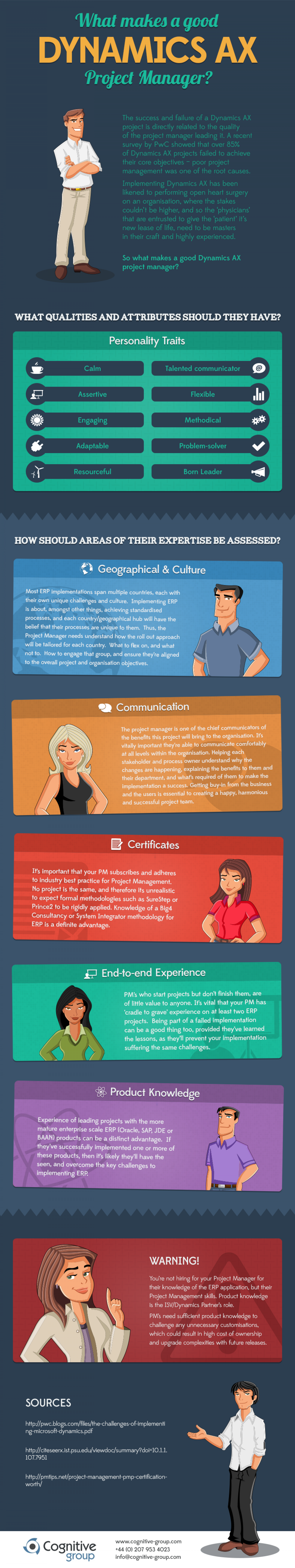 What makes a good Dynamics AX project manager? Infographic
