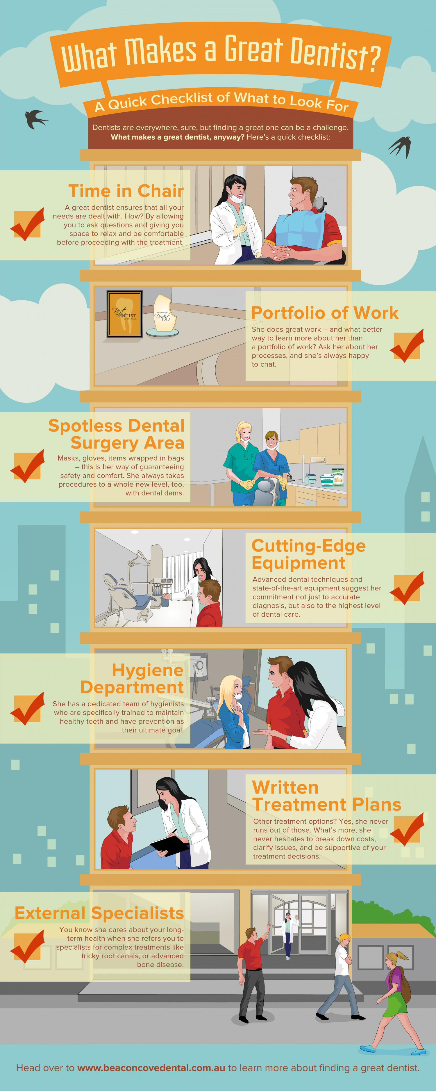 What Makes a Great Dentist Infographic