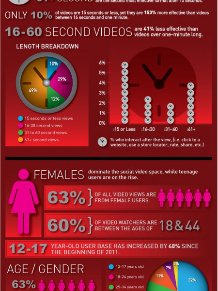 What Makes An Effective Social Video Campaign…And What Doesn't Infographic