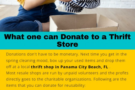 What one can Donate to a Thrift Store Infographic