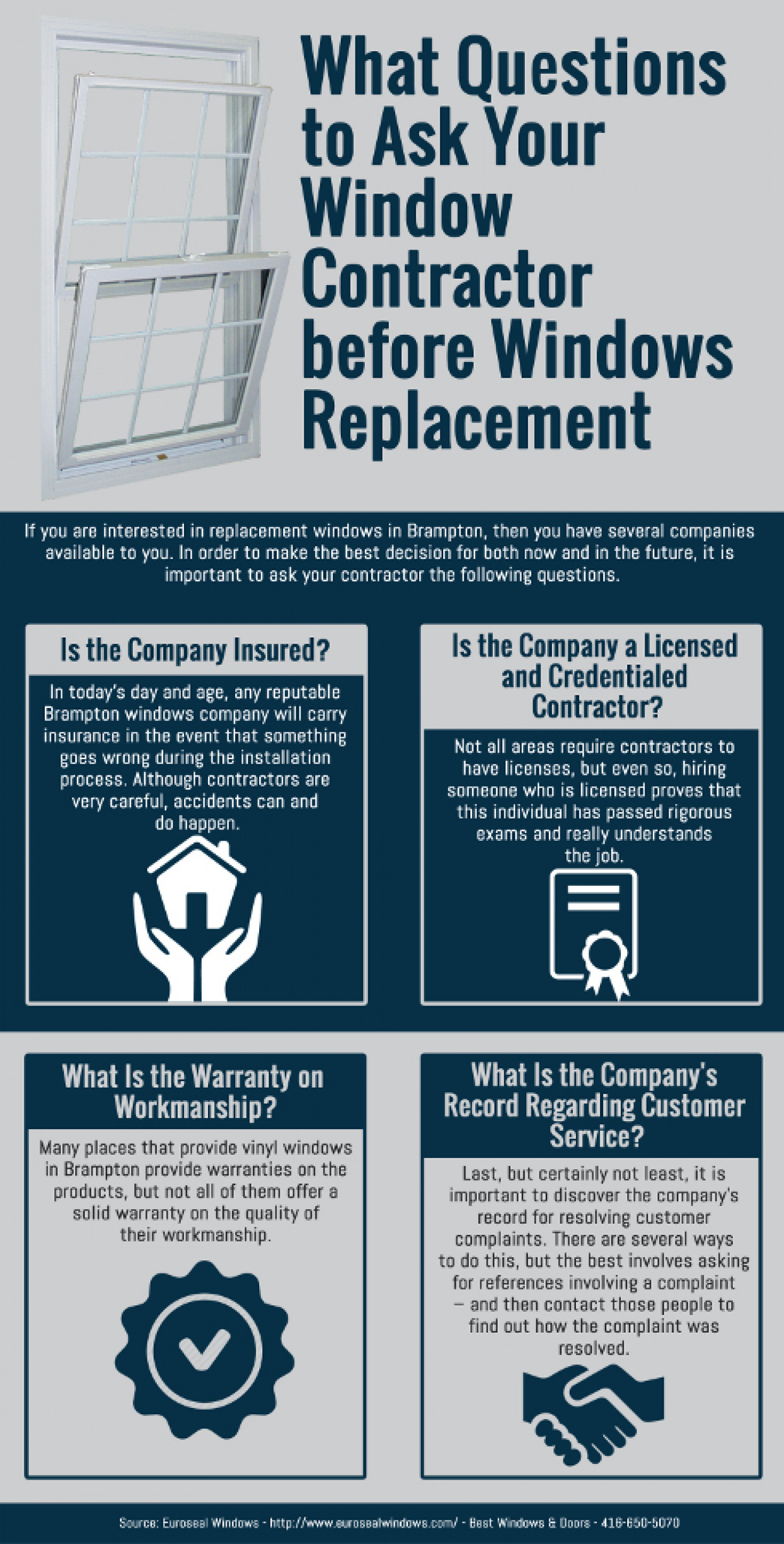 What questions to ask your window contractor before for Window replacement contractor