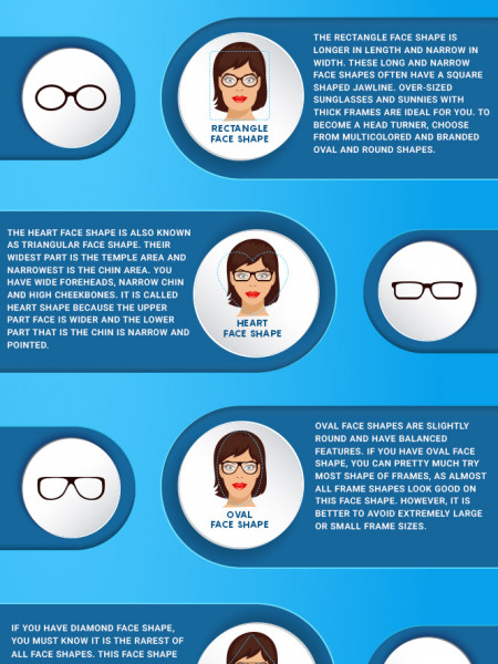 what shape of eyeglasses will look good on my face shape Infographic