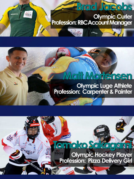 What The Winter Olympics 2014 Athletes Do For A Living? Infographic