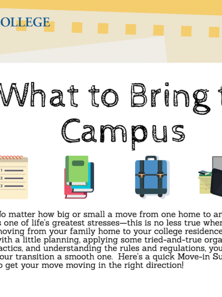 What To Bring to Campus Infographic