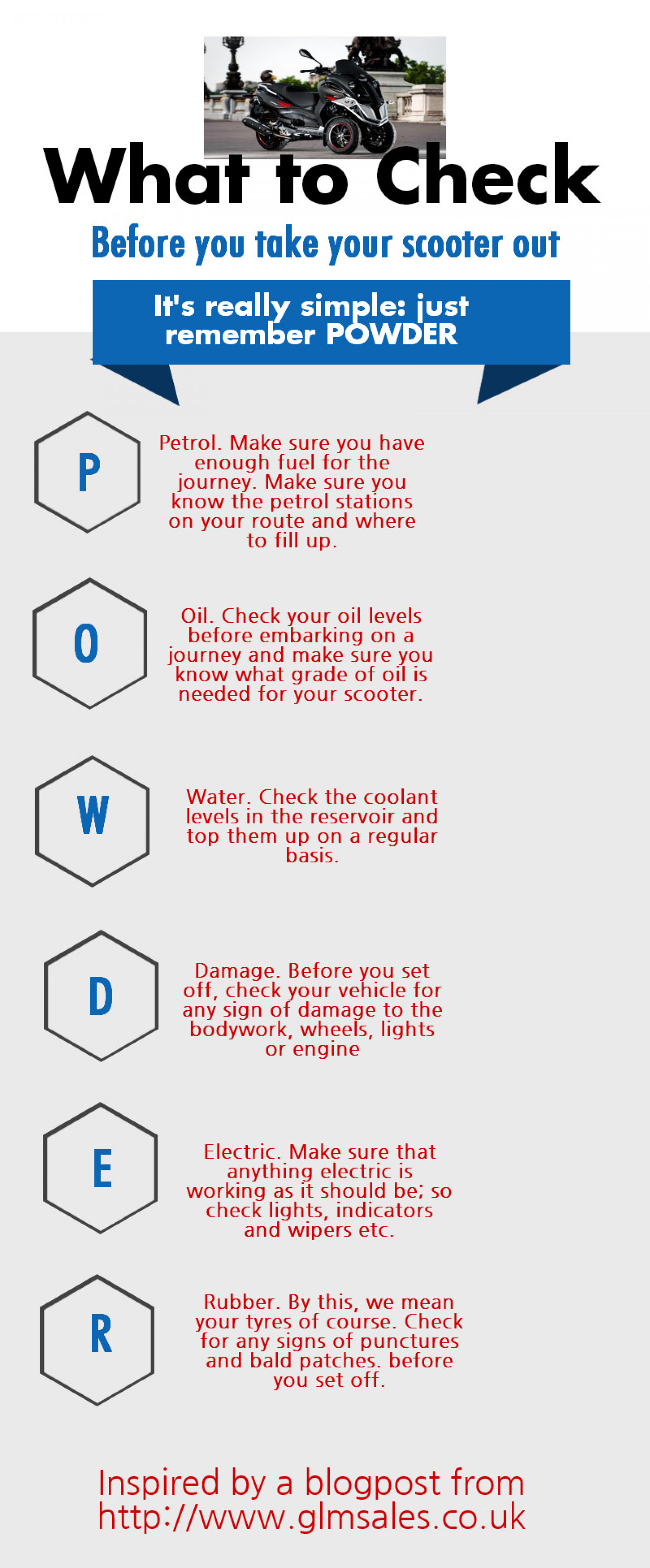 What to Check Before you Take Your Scooter Out Infographic