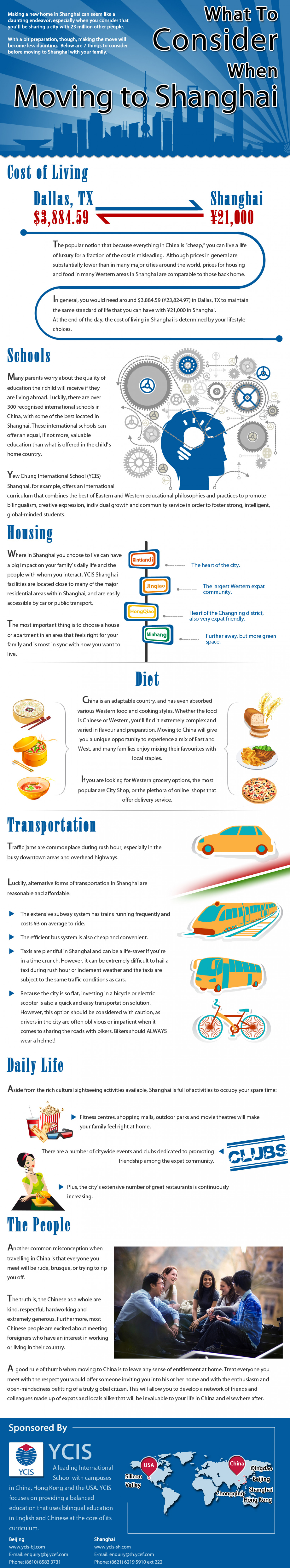 What to consider when moving to Shanghai Infographic