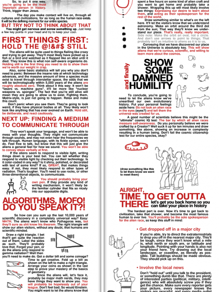 What To Do If You're The First Human To Ever Make Contact With Aliens Infographic