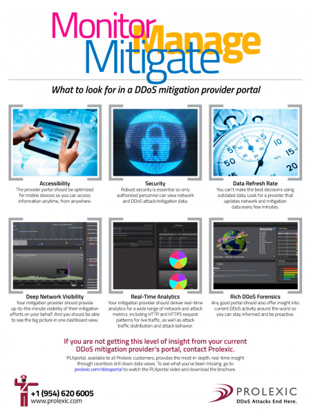 What to Look for in a DDoS Mitigation Provider Portal Infographic